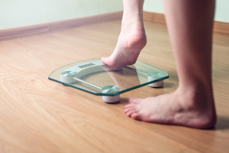 How often do I get on the scales?